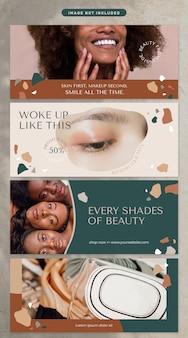 Banner no tema cosmético e beleza