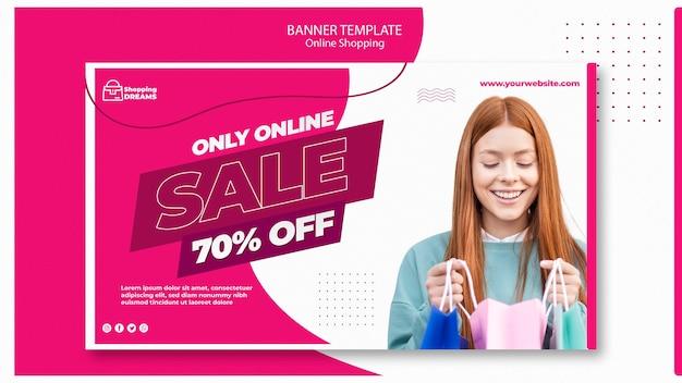 Banner on-line de compras