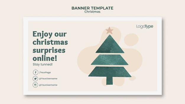 Banner online de modelo de compras de natal