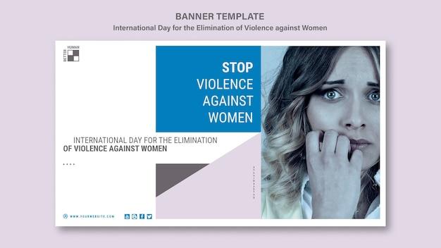 Banner para acabar com a violência contra as mulheres