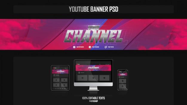Banner para canal do youtube com conceito crossfit
