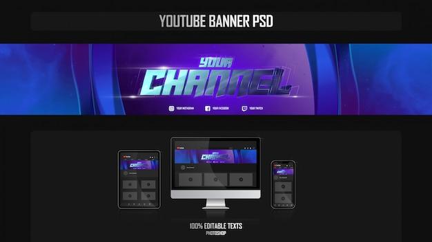 Banner para canal do youtube com conceito estético