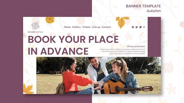 Banner para concerto de outono