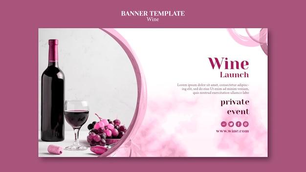 Banner para degustação de vinhos
