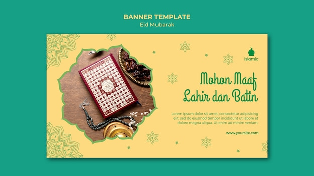Banner para eid mubarak