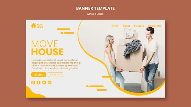 Banner para empresa de mudança de casa