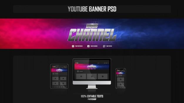 Banner para o canal do youtube com o conceito crossfit