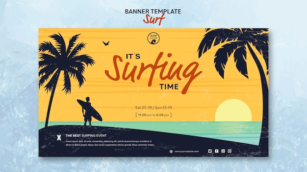 Banner para o tempo de surf