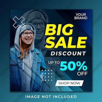 Banner post grande venda design moderno