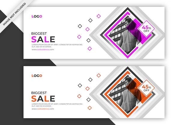 Banner promocional de venda ou modelo de capa