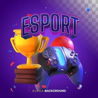 Banner quadrado para esportes eletrônicos