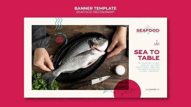 Banner restaurante de frutos do mar