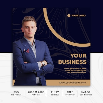 Banner simples de negócios corporativo