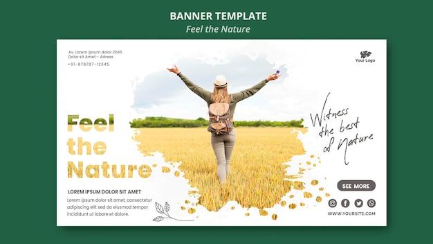 Banner sinta o modelo da natureza