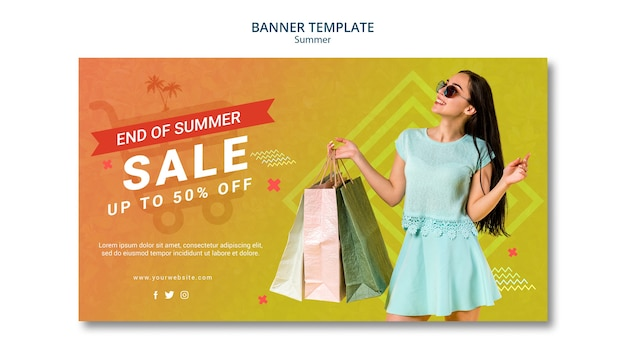 Banner template design summer sale