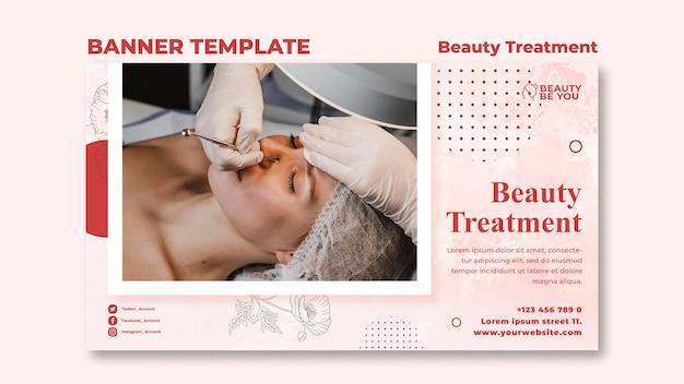 Banner tratamento de beleza Psd grátis