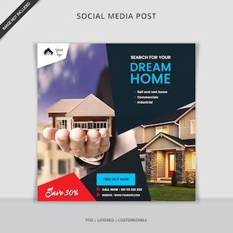 Banner web instagram post moderno