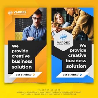 Banners de histórias do instagram de negócios corporativos