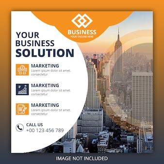Banners de postagem do instagram de negócios