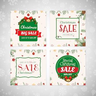 Banners de venda de natal