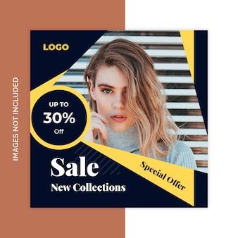 Banners de web de mídia social de venda de produto