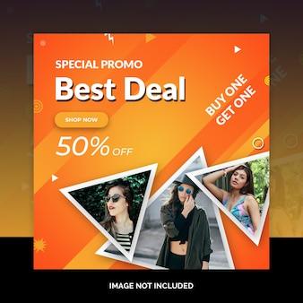 Banners de web de mídia social de venda especial de fim de semana