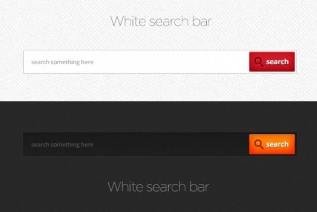 Barras de busca em estilo escuro ou branco