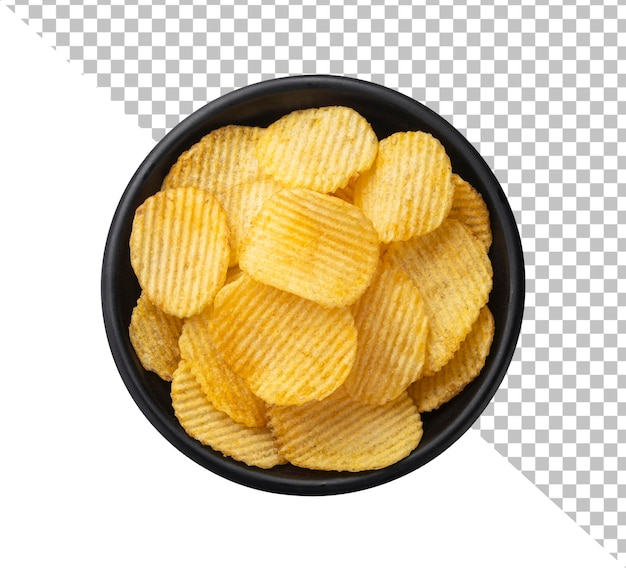 Batatas fritas em uma tigela isolada