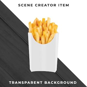Batatas fritas objeto transparente psd