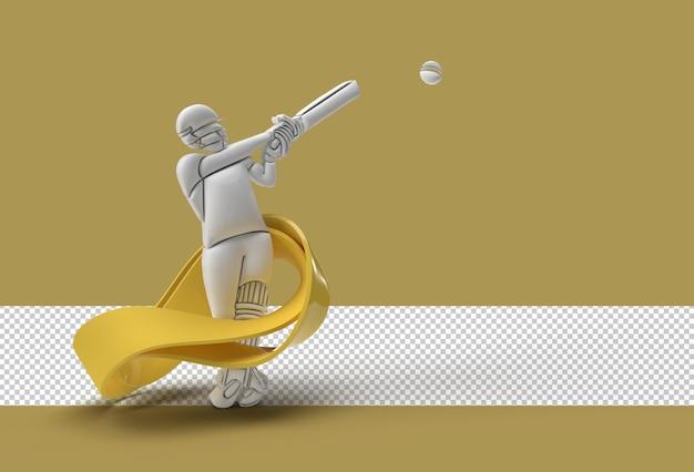 Batedor jogando cricket arquivo psd transparente.