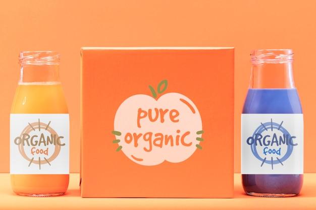 Batidos orgânicos em garrafas
