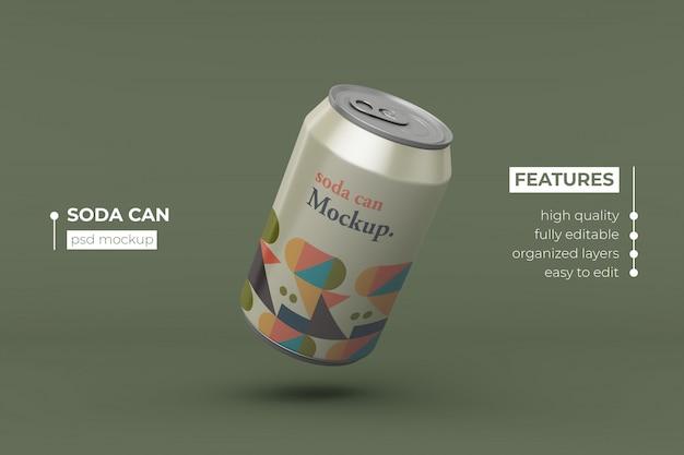 Bebida de alumínio de alta qualidade pode design de maquete