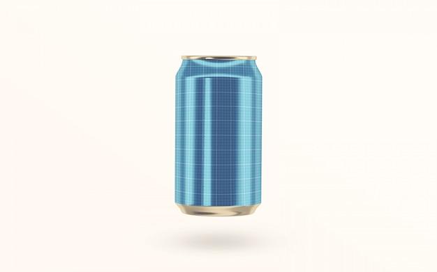 Bebida de refrigerante flutuante pode maquete