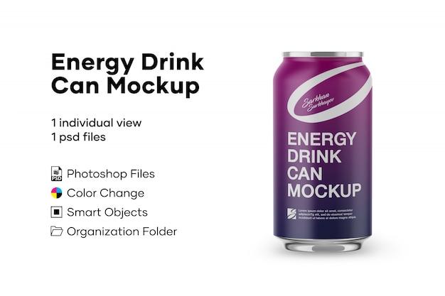 Bebida energética pode maquete