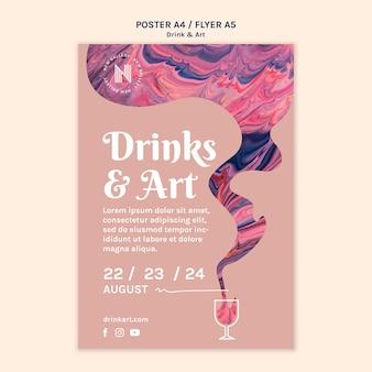 Bebidas e arte poster