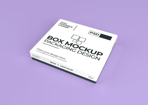 Bela maquete de caixa realista isolada