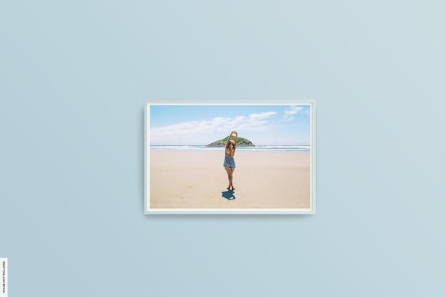 Bela maquete de foto de verão