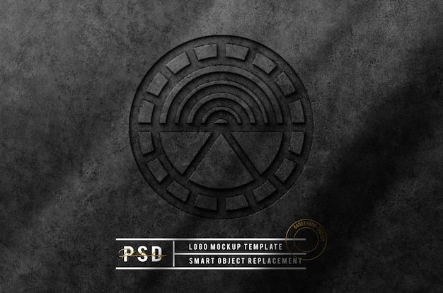 Bela maquete de logotipo escuro de luxo