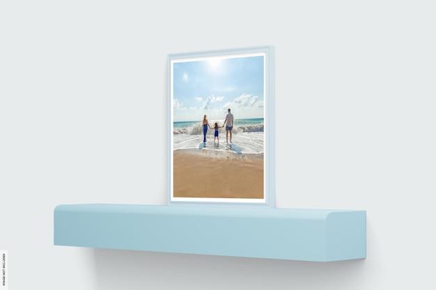 Bela maquete de moldura de foto de verão
