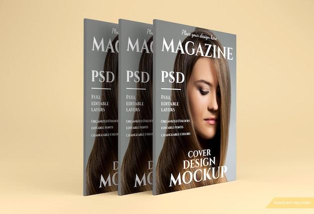 Bela maquete de revista em renderização 3d