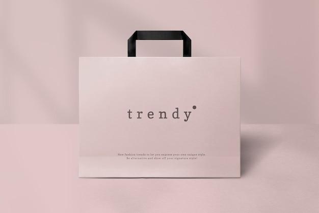Bela maquete de sacola de compras