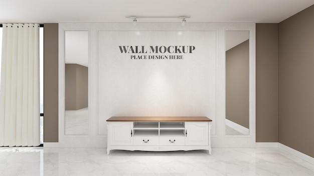Bela maquete de sinalização na sala de escritório do hotel interno da recepcionista