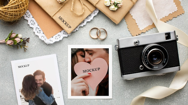 Bela maquete do conceito de casamento