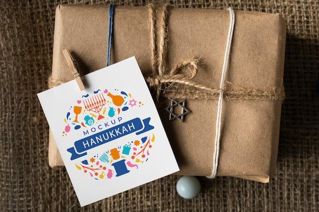 Bela maquete do conceito de hanukkah