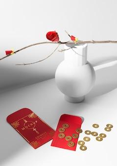 Bela maquete do conceito do ano novo chinês