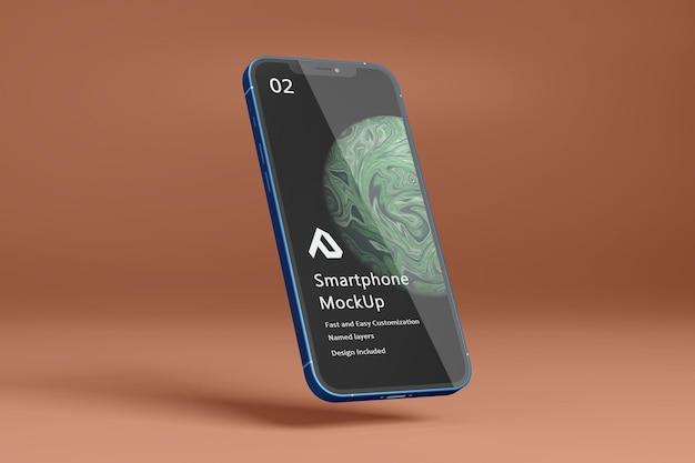 Bela maquete realista de smartphone isolada