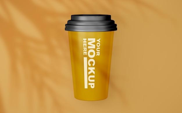 Bela maquete realista de xícara de café