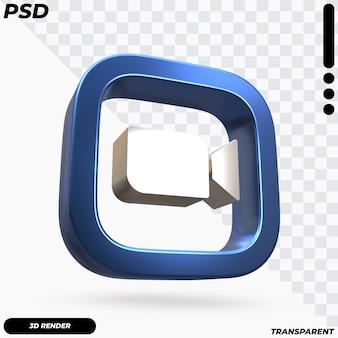 Bela renderização do logotipo de zoom