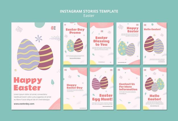 Belas histórias do instagram de eventos do dia de páscoa
