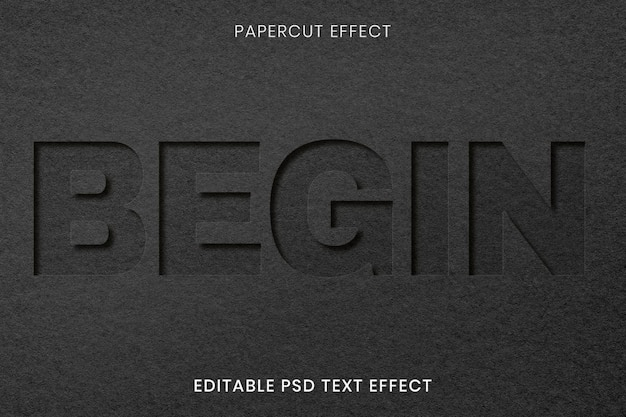 Belo design de maquete com corte de papel